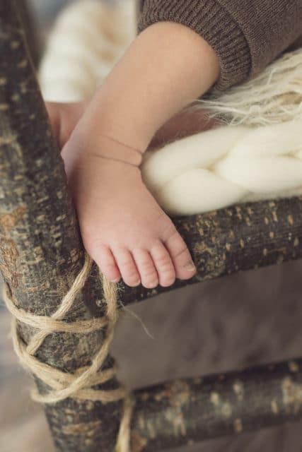 photo de pied de bébé