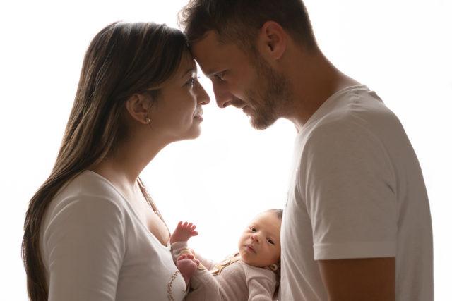 portrait famille nouveau-né