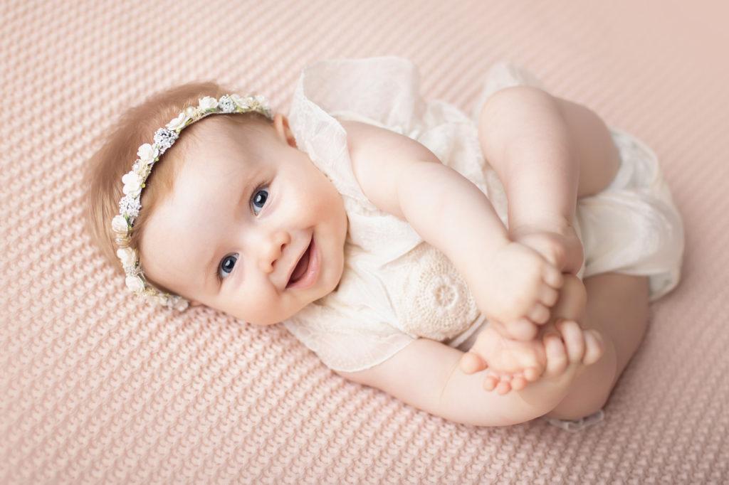 séance bébé sourire