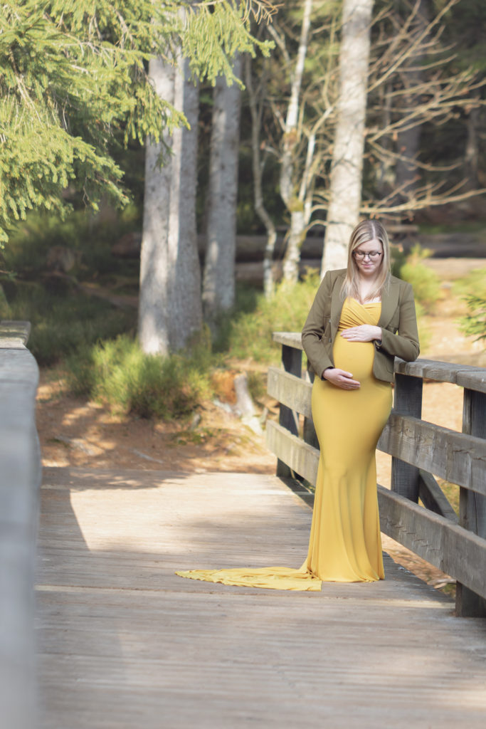 robe grossesse jaune